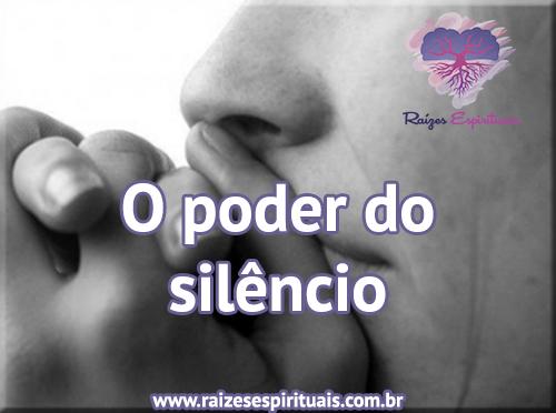 Poder do silêncio