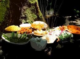 Oferendas de comidas para Iemanjá