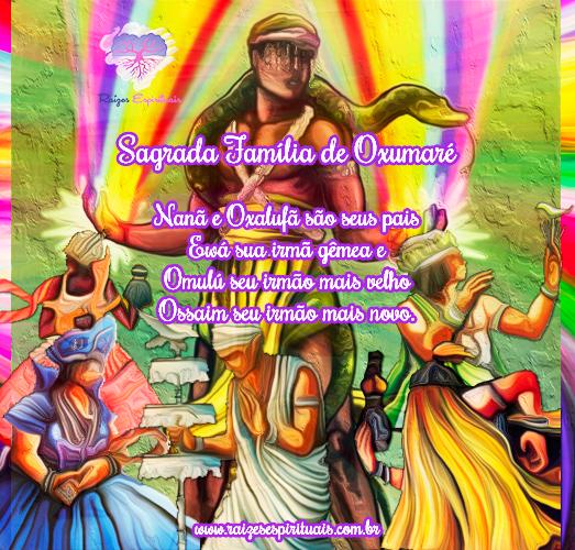 Oxumaré é filho de Nanã e Oxalufã.