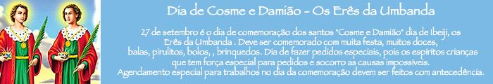 Dia de Cosme e Damião - Os Erês da Umbanda