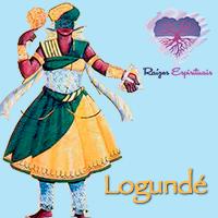 O orixá Logunedé é visto com espelho e seu arco e flecha