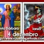 Dia da orixá Iansã, a Santa Bárbara dos católicos! (com orações)