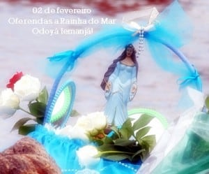 Oferendas a Rainha do Mar