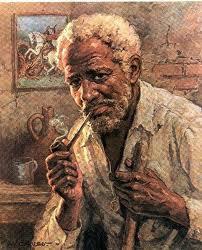 Preto Velho ajudando nos trabalhos espirituais