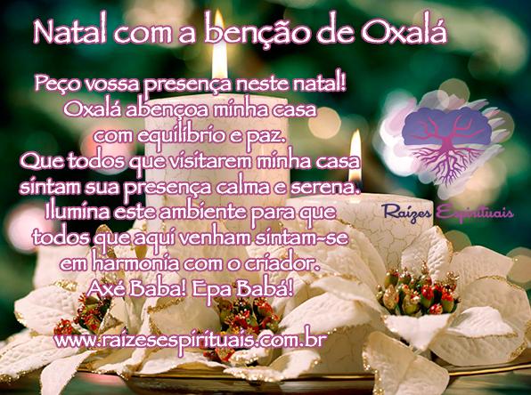 Peça a presença de Oxalá em seu natal e terá paz e harmonia