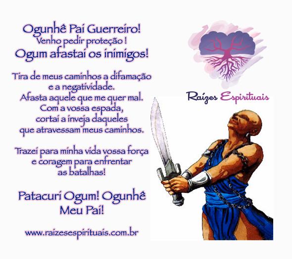 Suficiente Ogum afastai os inimigos - Raizes Espirituais VS31