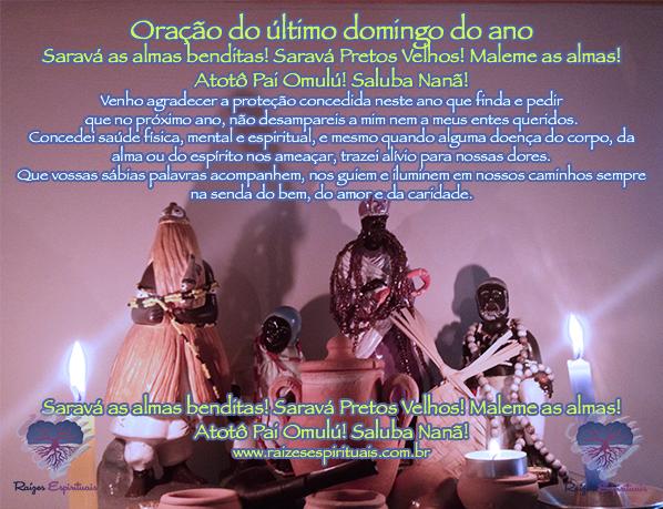 Oração a linha das almas da umbanda no último domingo do ano