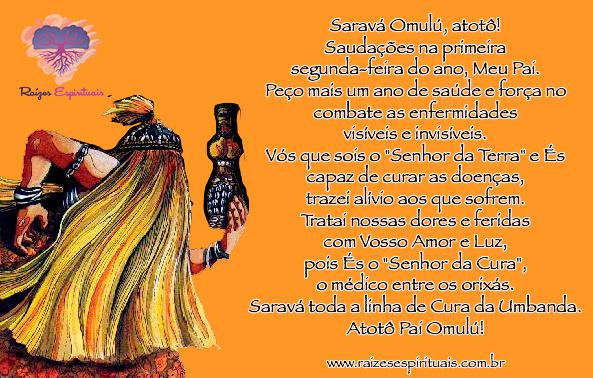 Oração a Omulú na primeira segunda-feira do ano