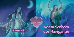 Iemanjá é sincretisada com Nossa Senhora dos Navegantes e homenageada em 02 de fevereiro.