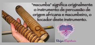 Macumba é o nome dado a um instrumento originalmente