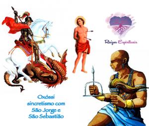 Os filhos do orixá Oxóssi as vezes associam a São Jorge ou São Sebastião no sincretismo religioso