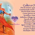 Culto a Obá realizado as quartas-feiras