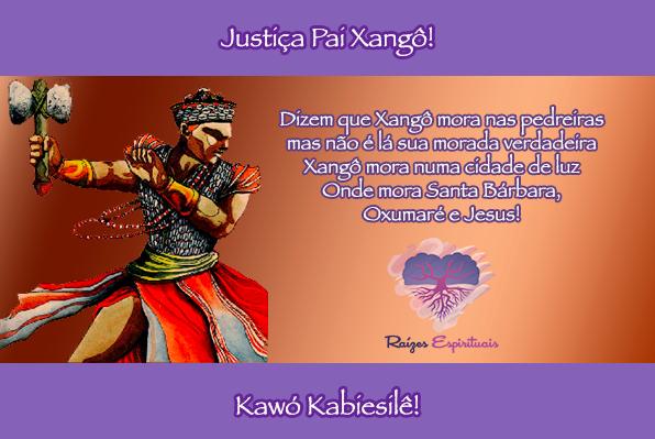 Quarta-feira é dia de clamar pela justiça divina de Nosso Pai Xangô.