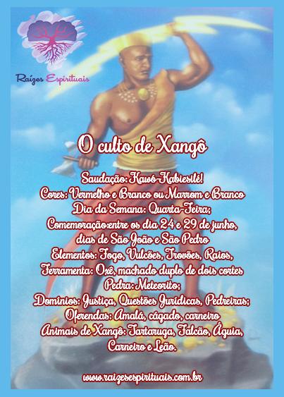 Homenageado em Junho, Xangô é o orixá da justiça