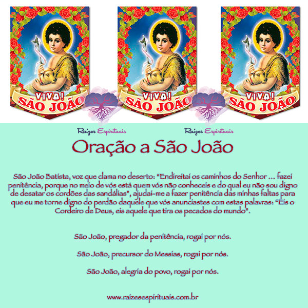Dia 24 de junho homenageamos São João