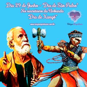 São Pedro é tido no sincretismo como o orixá Xangô