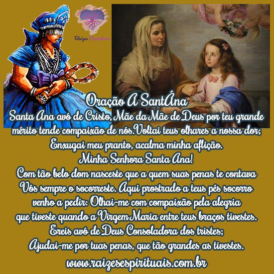Sant'Ana, a avó de Jesus recebe uma singela homenagem e oração em 26 de Julho