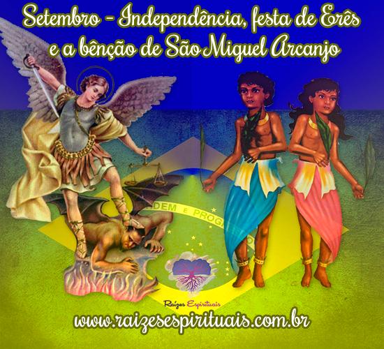 """Comemorações do mês de setembro no site """"Raízes Espirituais"""""""