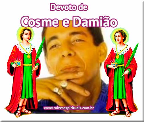 A música de Zeca Pagodinho em homenagem a Cosme e Damião