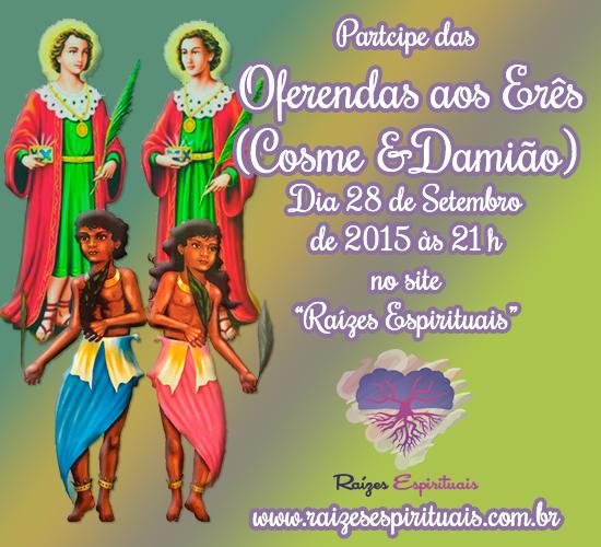 Participe das Oferendas aos Erês em 2015