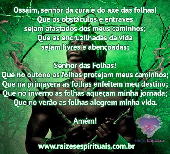 Oração para Ossaim: Ossaim, senhor da cura e do axé das folhas!