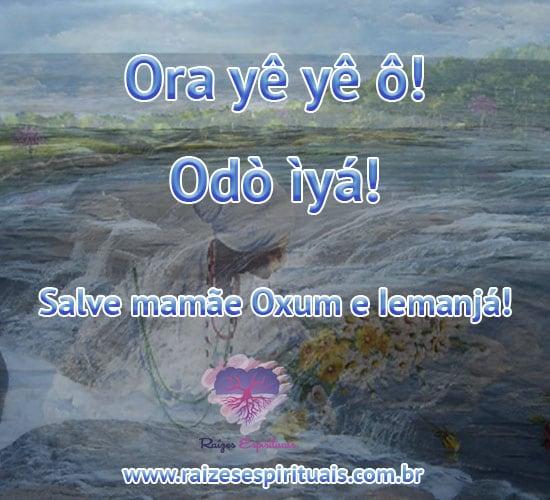 Sábado é de Oxum e Iemanjá. Ora yê yê ô! Odò ìyá! Salve mamãe Oxum e Iemanjá!