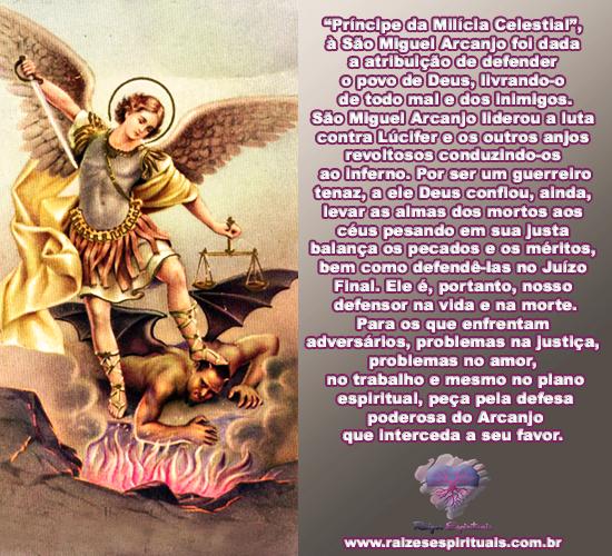 São Miguel Arcanjo homenageado em 29 de setembro