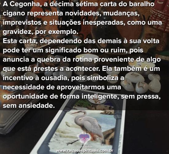 Baralho Cigano - A Cegonha