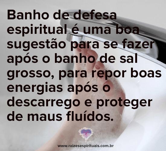 Banho de defesa espiritual