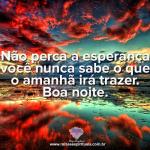 Não perca a esperança