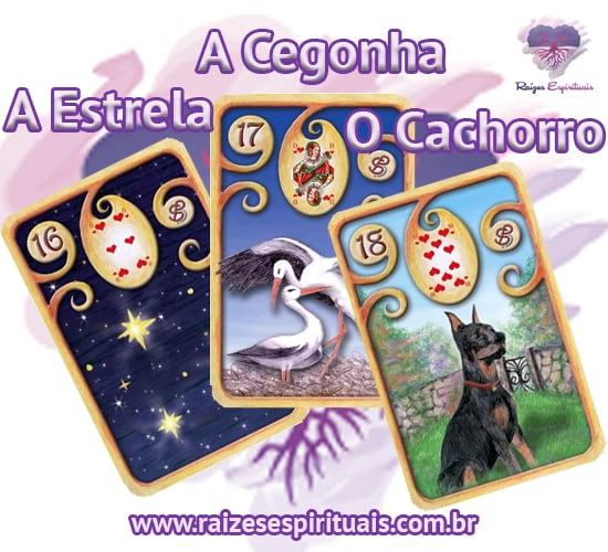 A Estrela, A Cegonha e O Cachorro no Baralho Cigano - cada uma delas, combinada com um naipe, tem o seu significado único e preciso.
