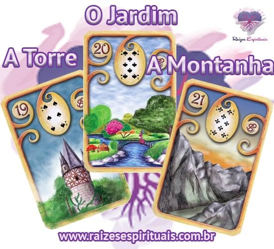 A Torre, O Jardim e A Montanha - Cada uma destas cartas ciganas, combinada com um naipe, tem o seu significado único e preciso.