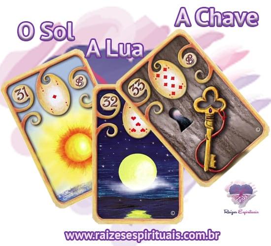 O Sol, A Lua e A Chave – no Baralho Cigano, cada uma delas, combinada com um naipe, tem o seu significado único e preciso.