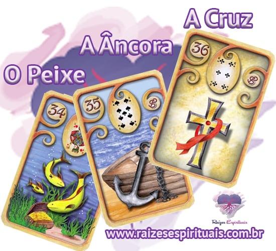 O Peixe, A Âncora  e A Cruz - Cada uma destas cartas ciganas,  combinada com um naipe, tem o seu significado único e preciso.