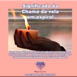 Significado da chama da vela em espiral
