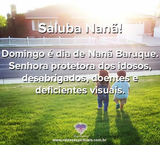 Saluba Nanã! Domingo é dia de Nanã Baruque. Senhora protetora dos idosos, desabrigados, doentes e deficientes visuais.