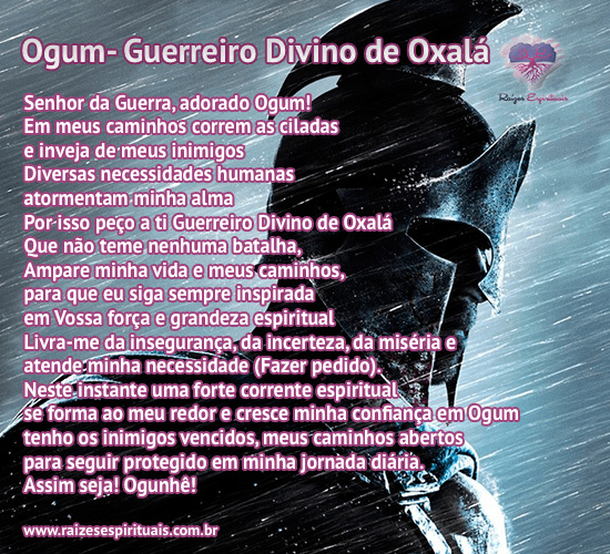 Oração a Ogum - Divino Guerreiro de Oxalá