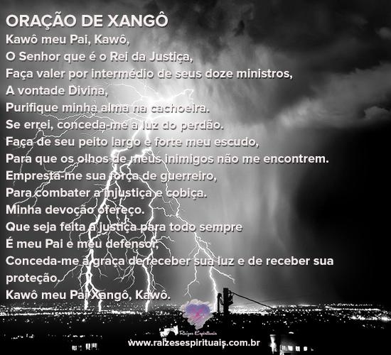 Quarta-feira é dia de orar a Xangô