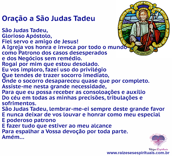 Oração a São Judas Tadeu