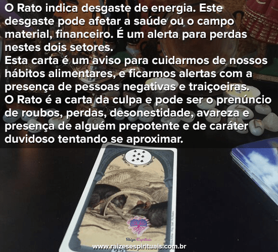Baralho Cigano - O Rato
