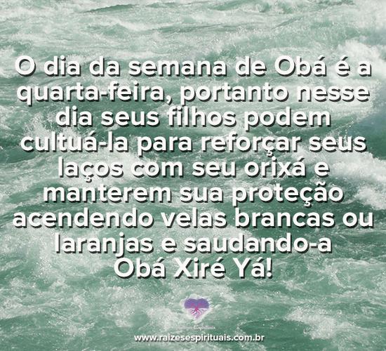 Quarta-feira dia de Obá