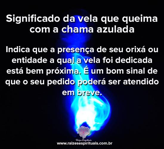 Significado da vela que queima com a chama azulada