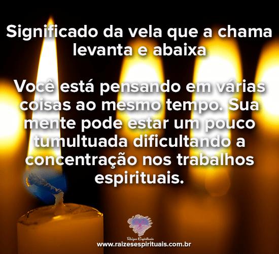 Significado da vela que a chama levanta e abaixa