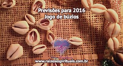 Previsões para 2016 no Jogo de Búzios