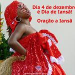 Dia 4 de Dezembro é dia de Iansã