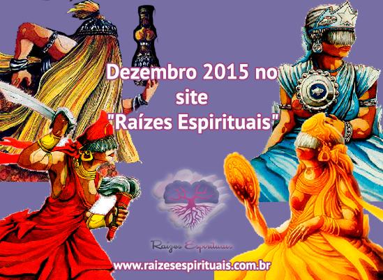 """Promoções e sorteios no site  """"Raízes Espirituais"""" em dezembro de 2015"""