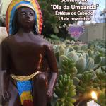 """Sorteio no """"Dia da Umbanda"""" – Estátua de Caboclo"""
