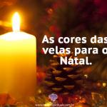 Cores das velas para o Natal