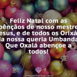 Feliz Natal com a Benção de Oxalá