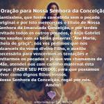 Dia de Nossa Senhora da Conceição